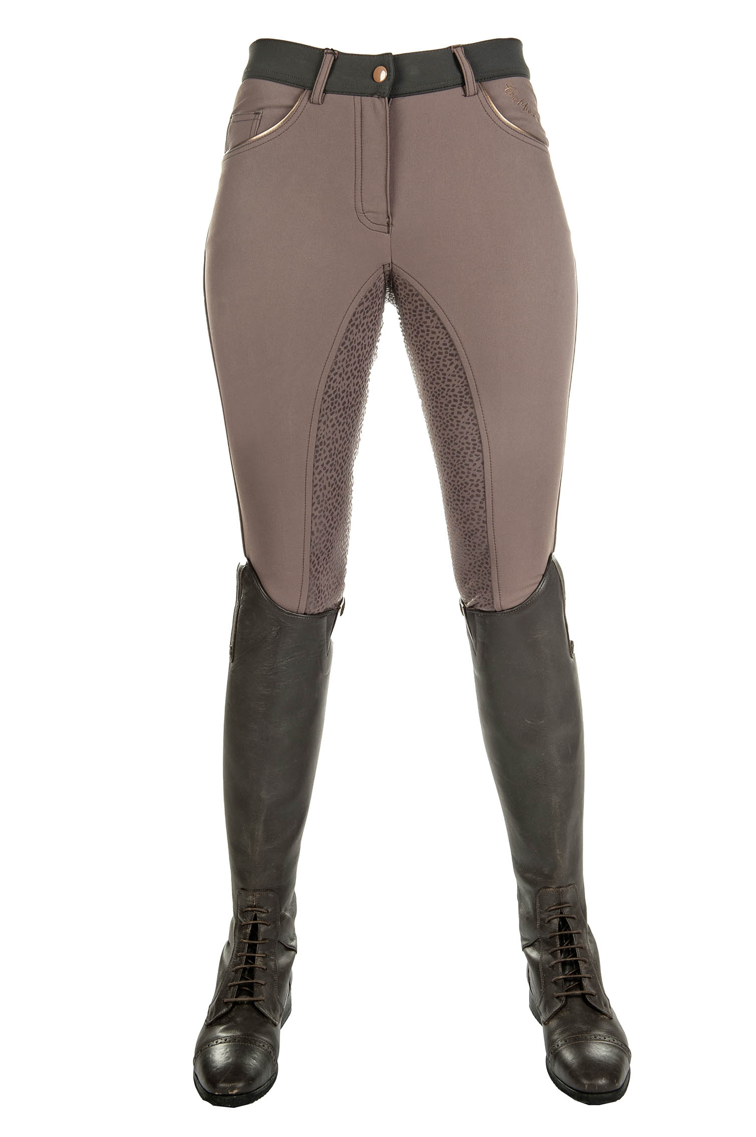Cavallino Marino Riding Breeches Copper Kiss Silicone Full Seat