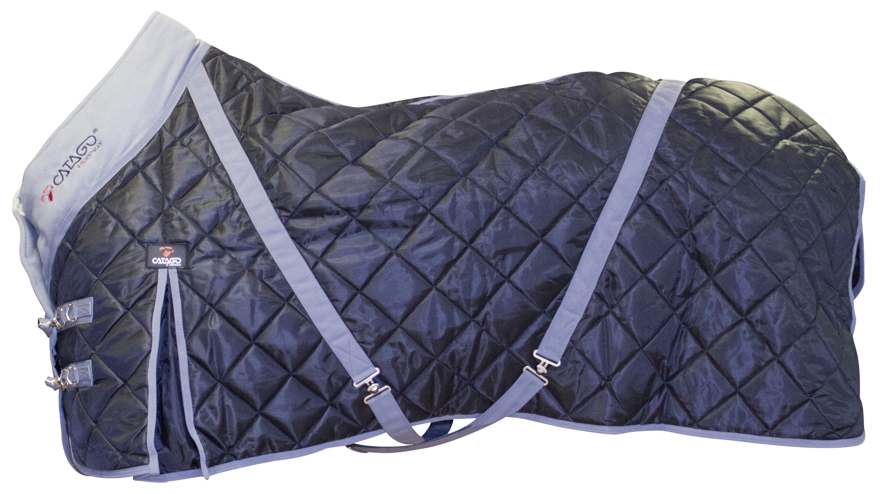 Afbeelding van Catago staldeken zwart/grijs 100g