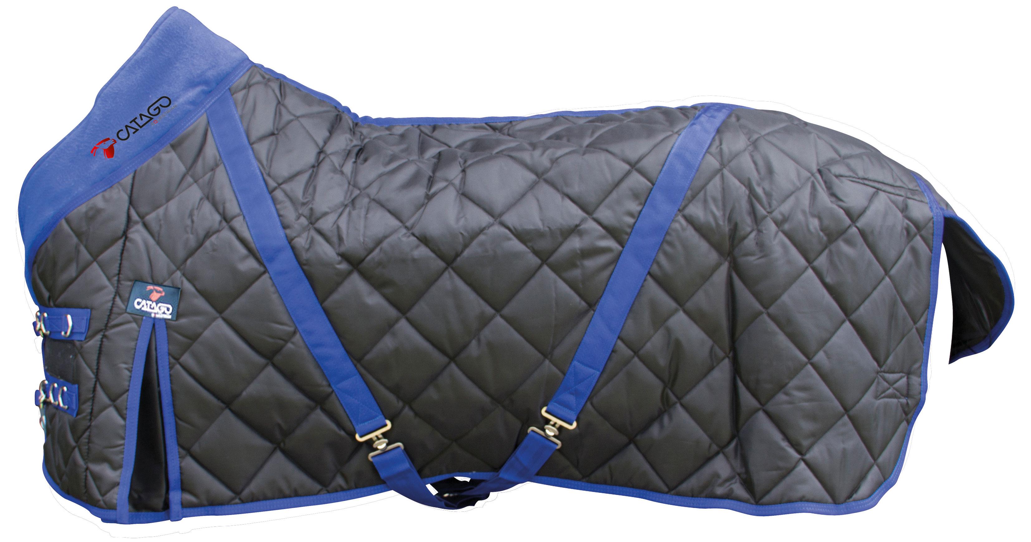 Afbeelding van Catago staldeken zwart/blauw 300g