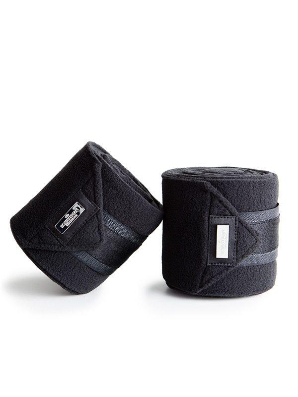 Afbeelding van Equestrian Stockholm Black Edition fleece bandages