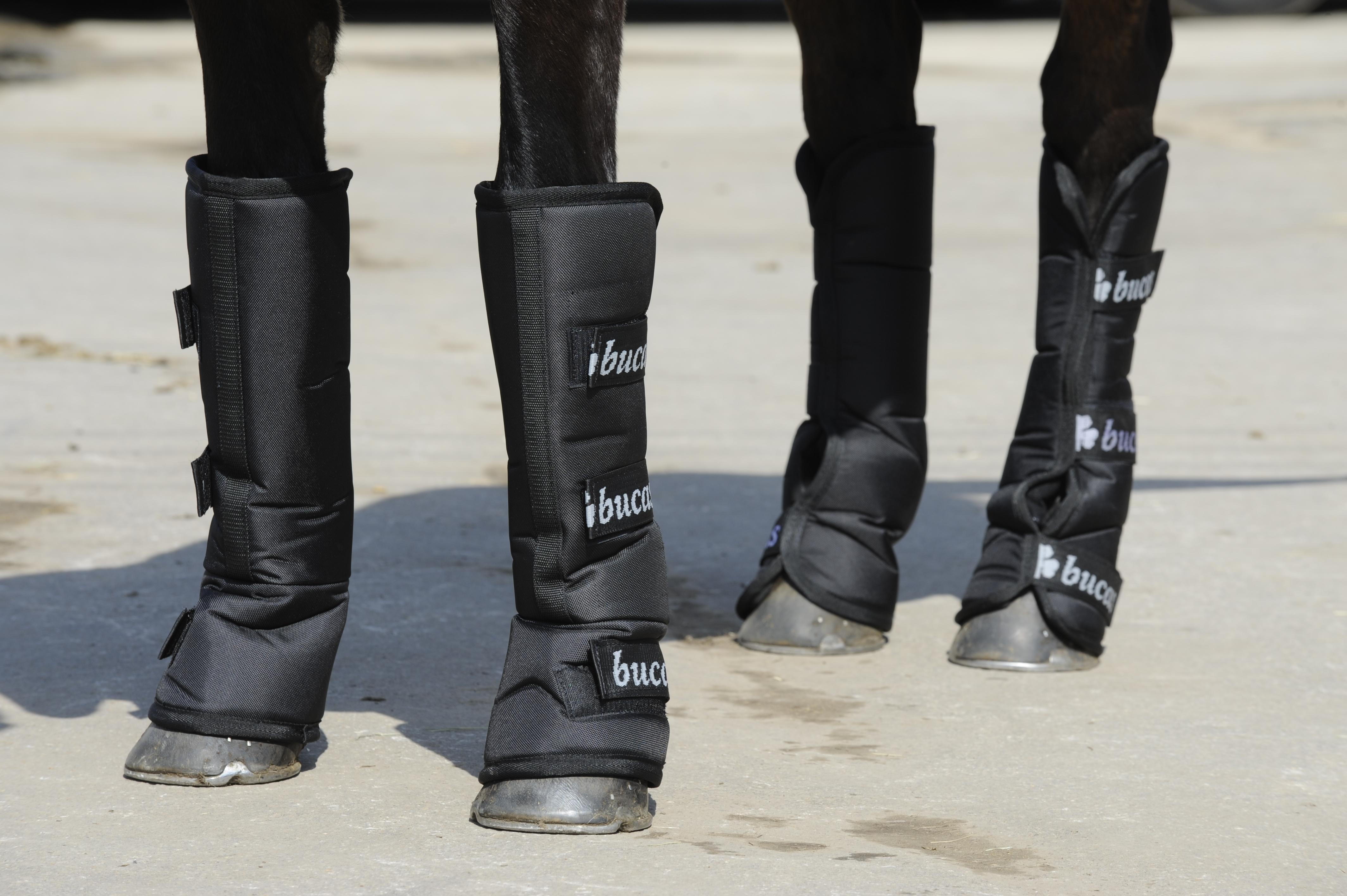 Afbeelding van Bucas 3/4 Boots Transportbeschermers Zwart