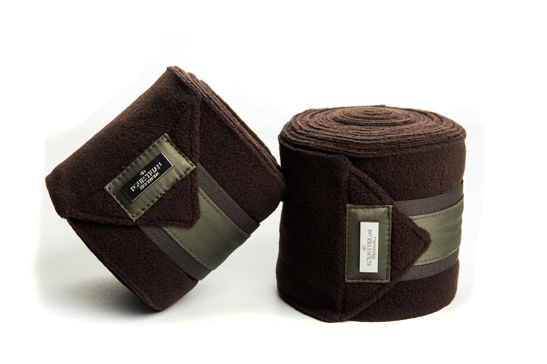 Afbeelding van Equestrian Stockholm Brown Olive fleece bandages