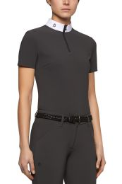 Cavalleria Toscana FW'20 Jersey Fleece Tech Knit S/S Zip Wedstrijdshirt