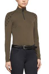 Cavalleria Toscana FW'20 Flocked Mini CT Jersey Fleece Turtleneck Zip Shirt