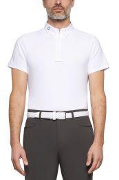 Cavalleria Toscana FW'20 Jersey Fleece Tech Knit S/S Zip Heren Wedstrijdshirt