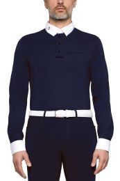 Cavalleria Toscana FW'20 Brushed Jersey L/S Competition Polo Heren Wedstrijdshirt