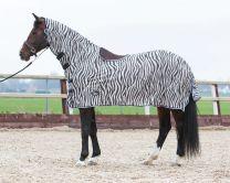 Harry's Horse Vliegendeken mesh met hals en zadeluitsparing, zebra