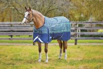 Weatherbeeta ComFiTec Plus Dynamic Standard Medium 220g Navy/Lime Plaid