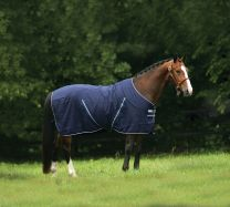 Rambo Stable Sheet Navy with Navy & white
