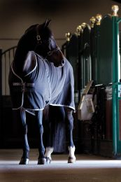 Rambo Stable Sheet Black with Pale Grey & Grey