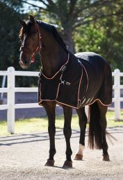 Rambo Optimo Stable Sheet Black with Tan, Orange & Black