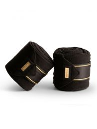 Equestrian stockholm fleece bandages Black Edition Gold FW'19