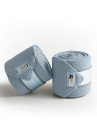 Equestrian Stockholm Ice Blue fleece bandages