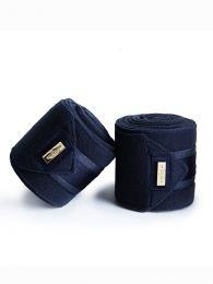 Equestrian Stockholm Classic Navy Gold fleece bandages