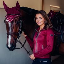 Equestrian Stockholm Fleece vest Bordeaux FW'19