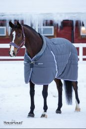 Rambo Cosy Stable Pony Charcoal with Silver, Raspberry & Blue 400gr.