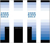 Dreamers & Schemers FW'20 Good Rides Only Blue Knitted Sokken