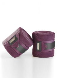 Equestrian Stockholm Deep Plum fleece bandages