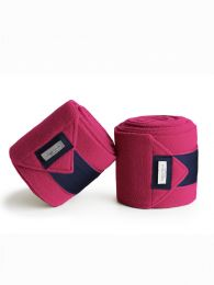 Equestrian Stockholm fleece bandages Faded Fuchsia FW'19