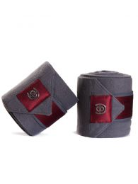 Equestrian Stockholm SS'20 Fleece bandages Grey Bordeaux