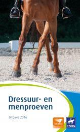 KNHS Dressuur- en Menproevenboekje Editie 2016