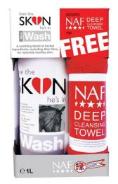 NAF Love the SKIN he's in - SKIN Wash 1L met handdoek