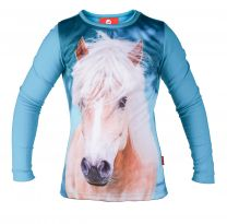 Red Horse long sleeved T-shirt Pixel