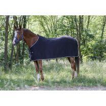Riding World fleece deken zwart/grijs