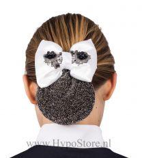 Nilette diamond haarstrik zwart wit glitter