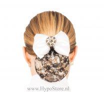 Nilette haarnet met strik diamond