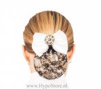 Nilette Diamond Set Plastron + Haarnetje