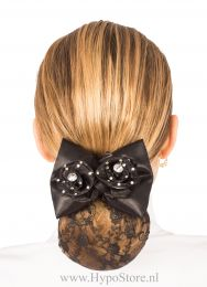 Nilette hairnet with bow and roses