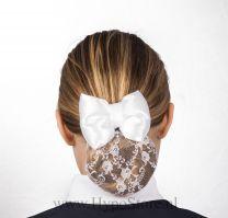 Nilette haarnet met strik wit kant