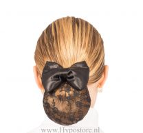 Nilette haarnet met strik zwart kant
