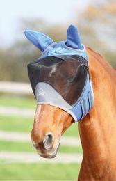 Shires Vliegenmasker Deluxe met oren blauw