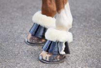 Premiera zwart lak leren springschoenen met echt lamswol