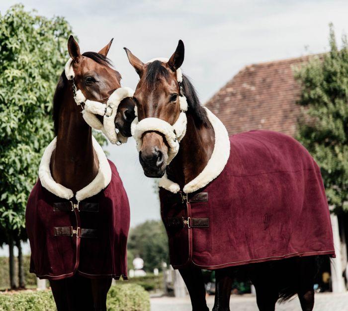 Kentucky Fleece Deken Show Heavy Bordeaux