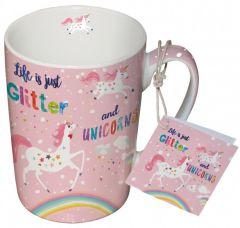 Pfiff Glitter&Unicorns Mok