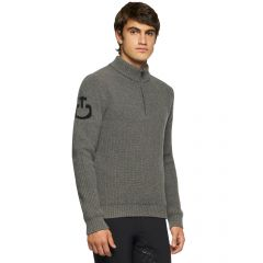 Cavalleria Toscana FW'21 Eco Merinos Half Zip Turtleneck Double Knit Sweater Heren
