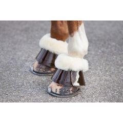 Premiera bruin lak leren springschoenen met echt lamswol