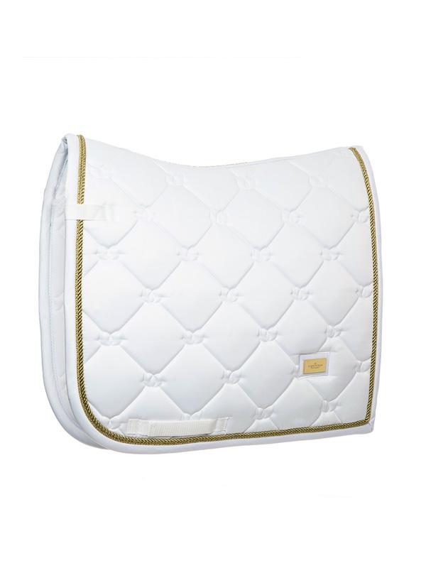 Afbeelding van Equestrian Stockholm dressuur dekje Gold White perfection